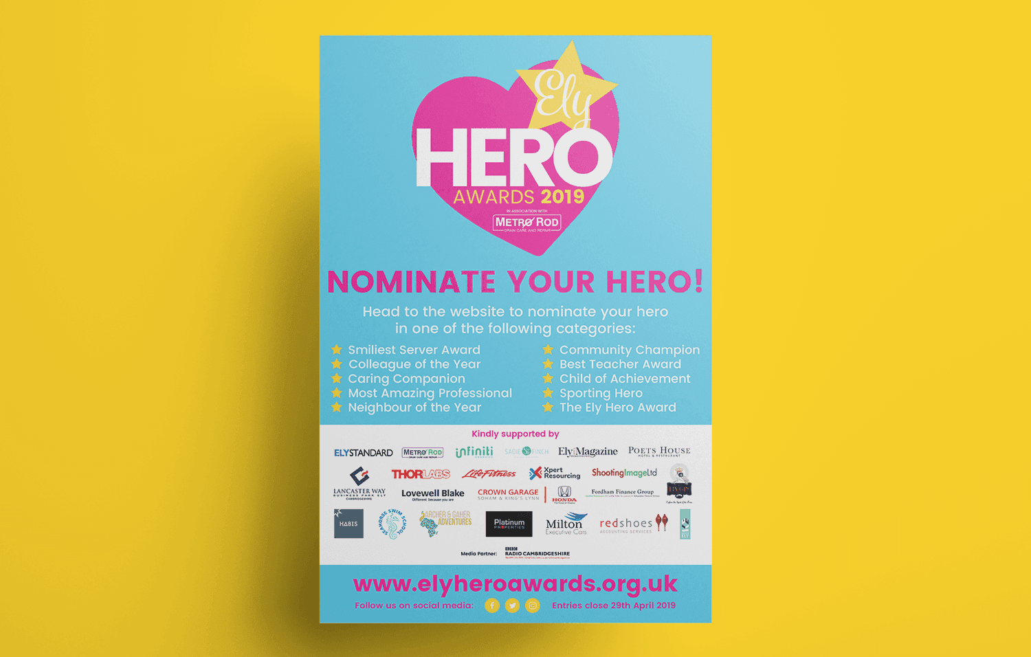 Ely Hero awards 2019 Poster