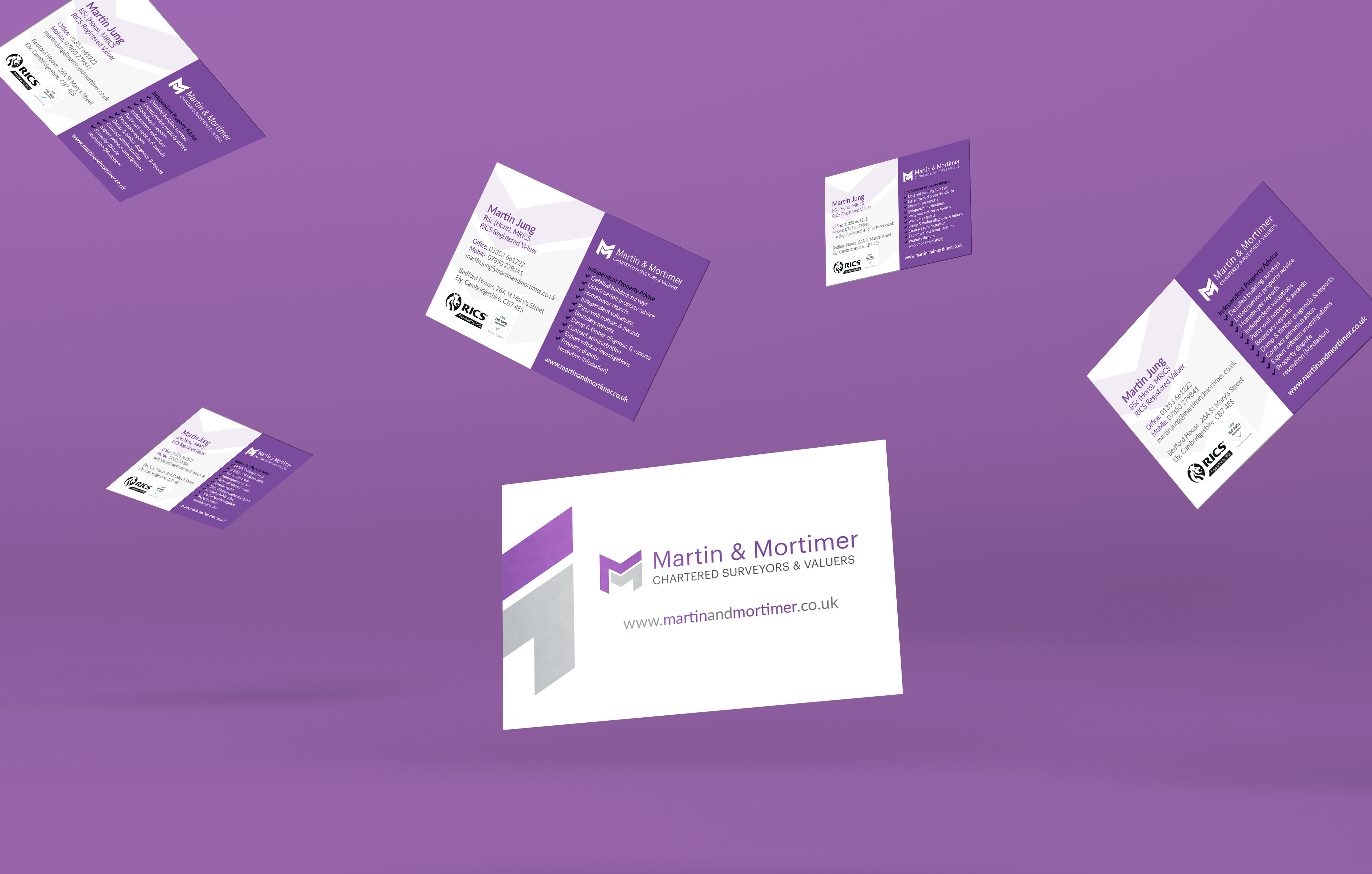 Martin and Mortimer business cards