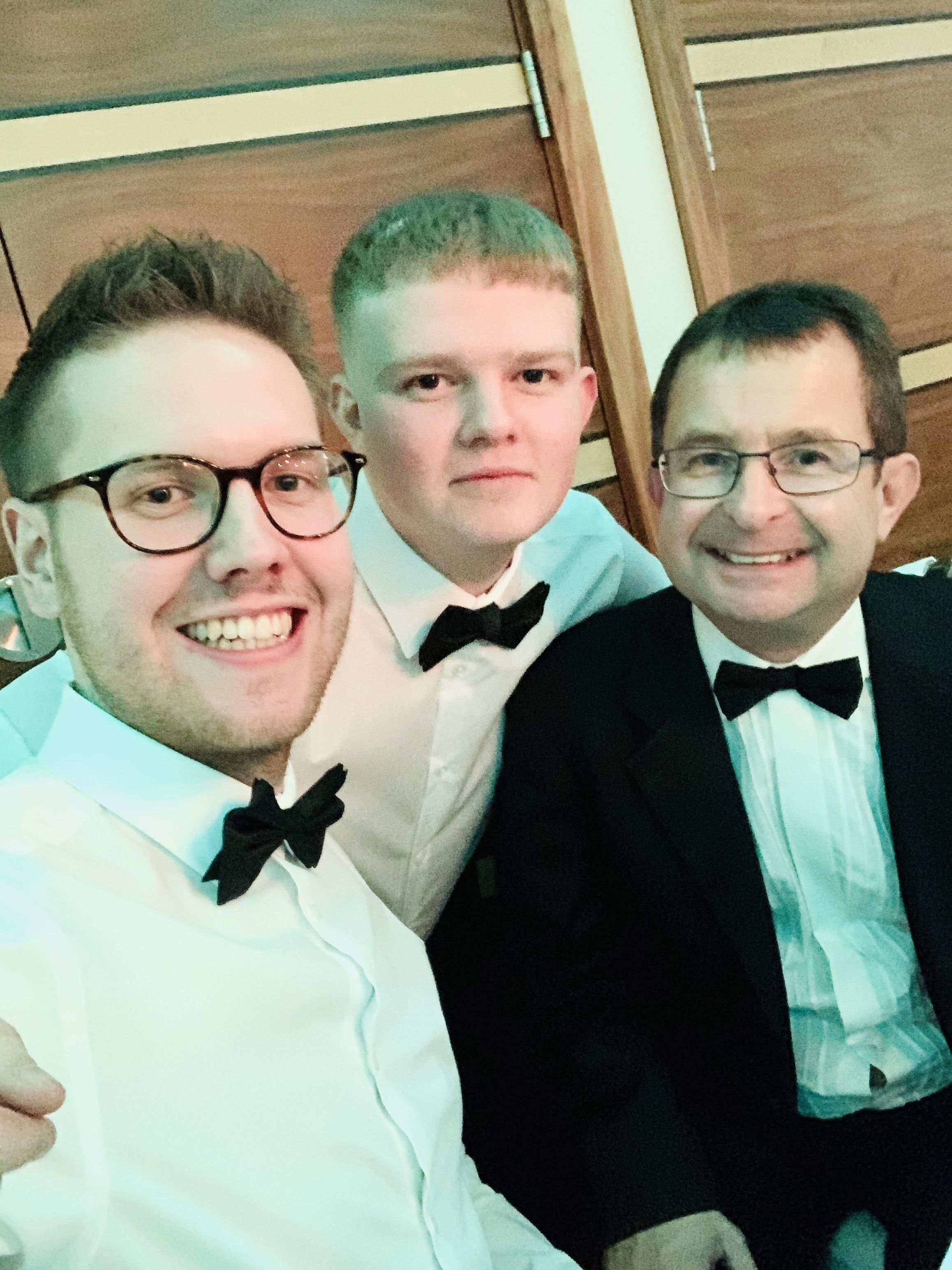 GBS gala dinner and awards evening 2019 Luke Smith Rian Swift and Iain Pickles