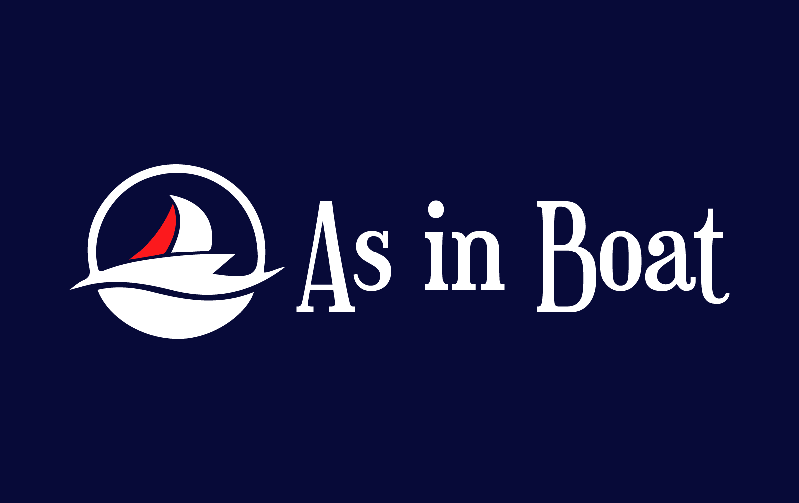 As in boat business card