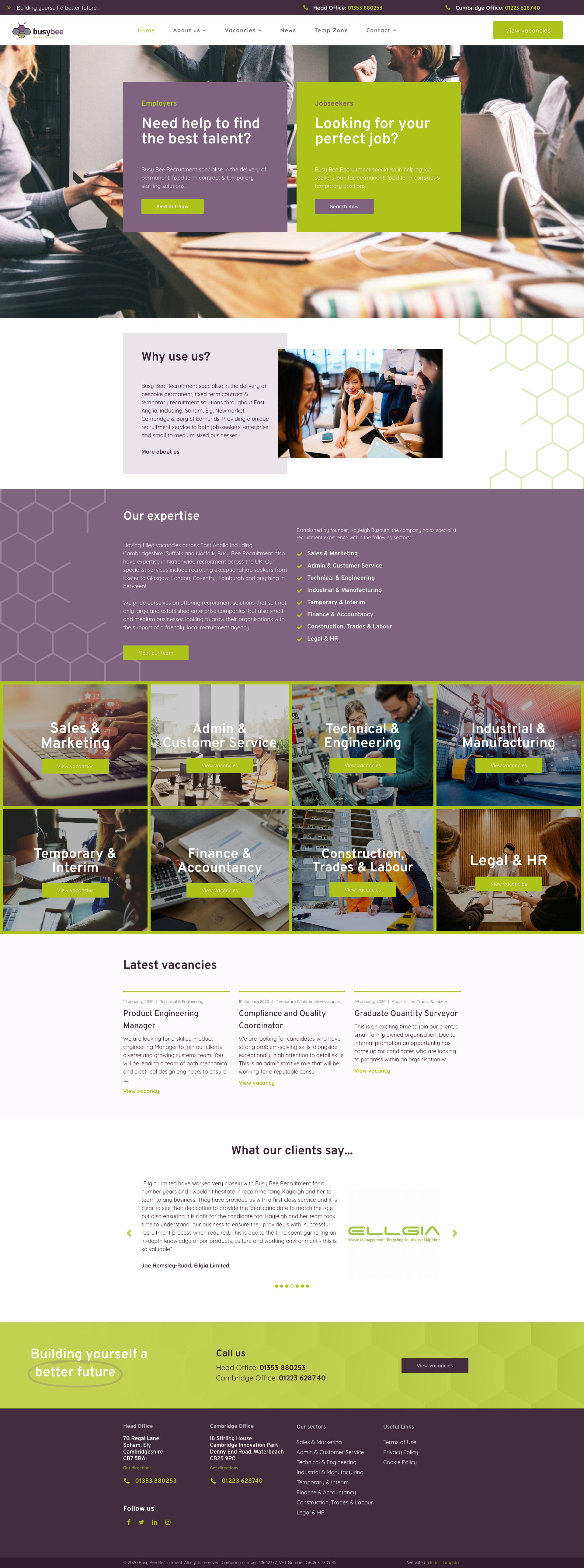 Busy Bee website