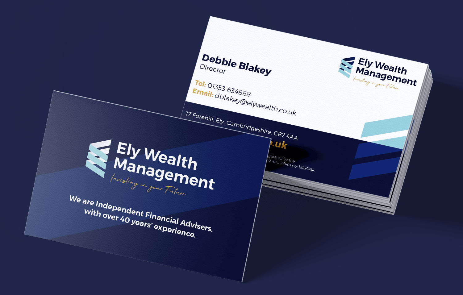 Ely Wealth management business cards