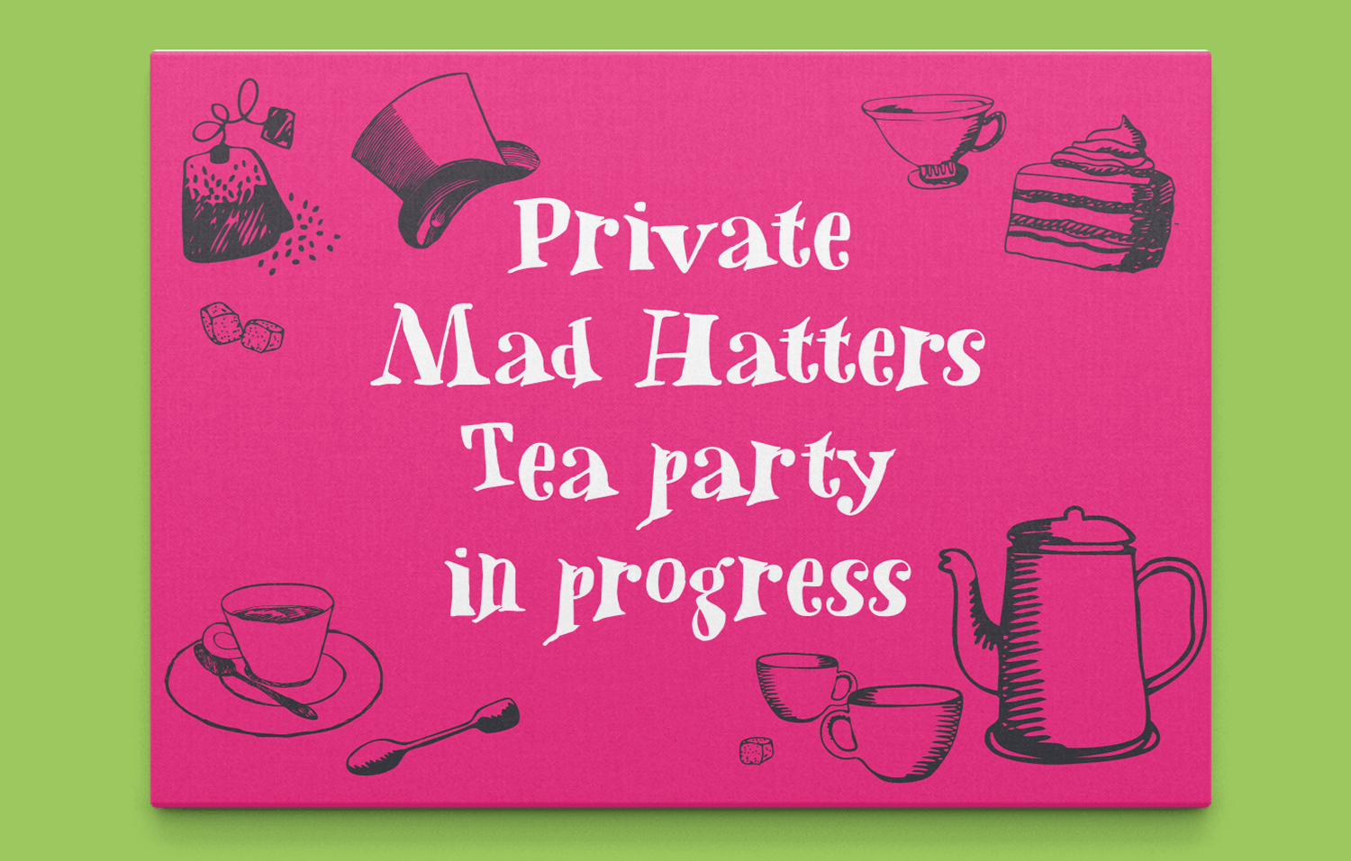 Mad Hatters Campsite tea party poster