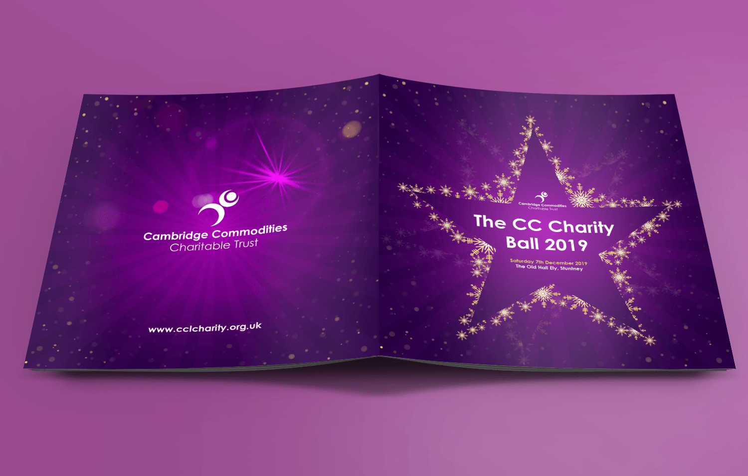 Cambridge Commodities Charity ball brochure