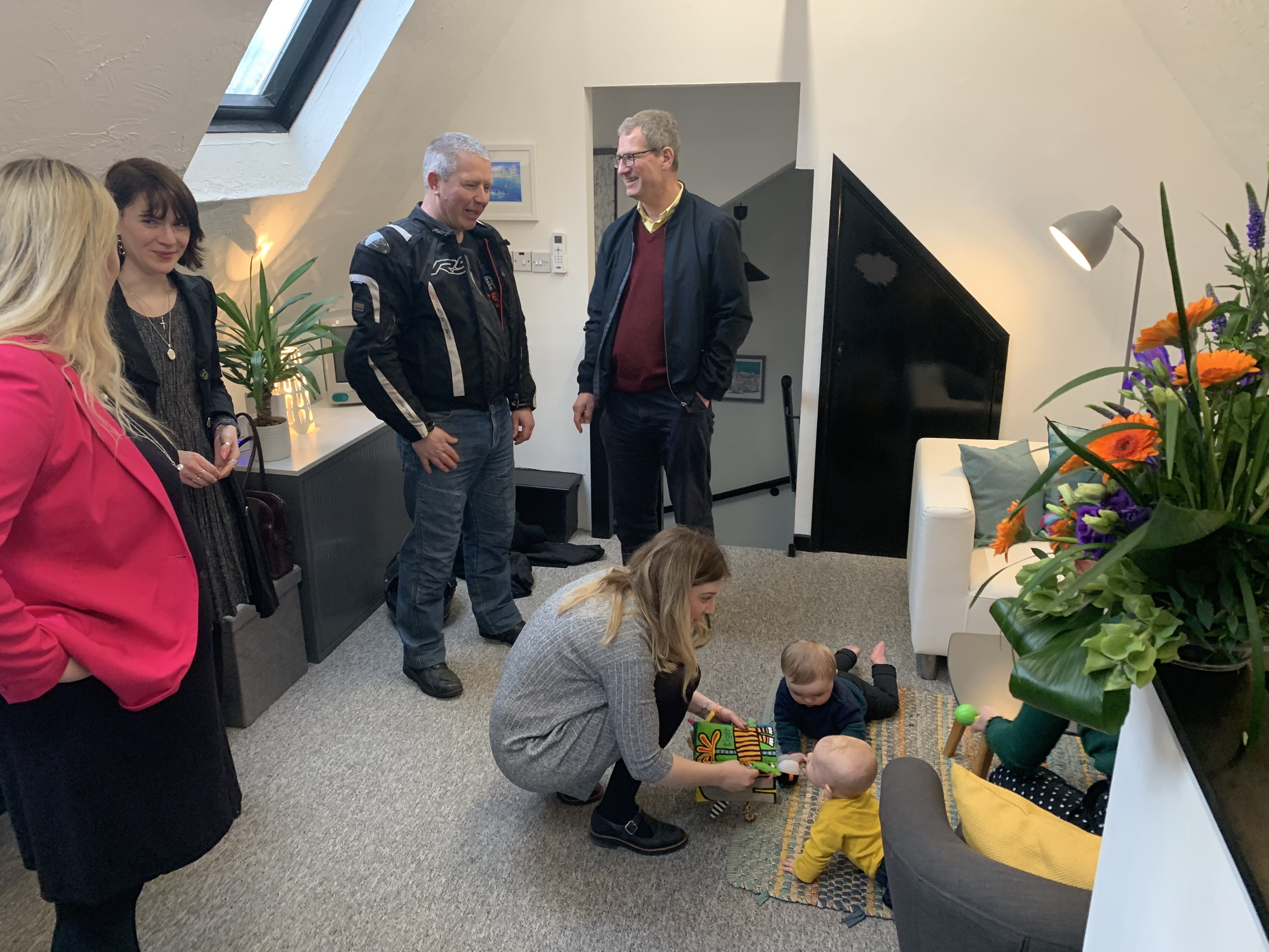 Infiniti Graphics welcomed more than 50 local business clients, friends and Mayor of Ely Mike Rouse to their new office