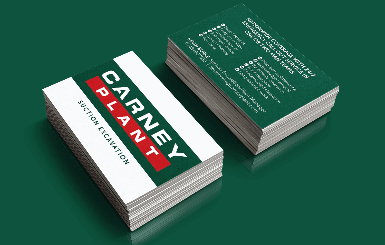 Carney Plant business cards
