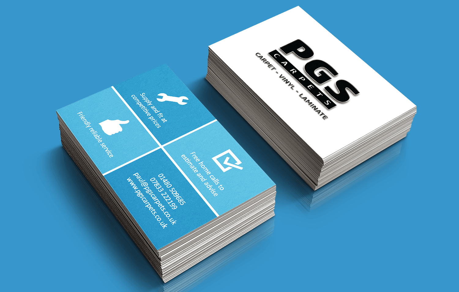 PGS Carpets business cards