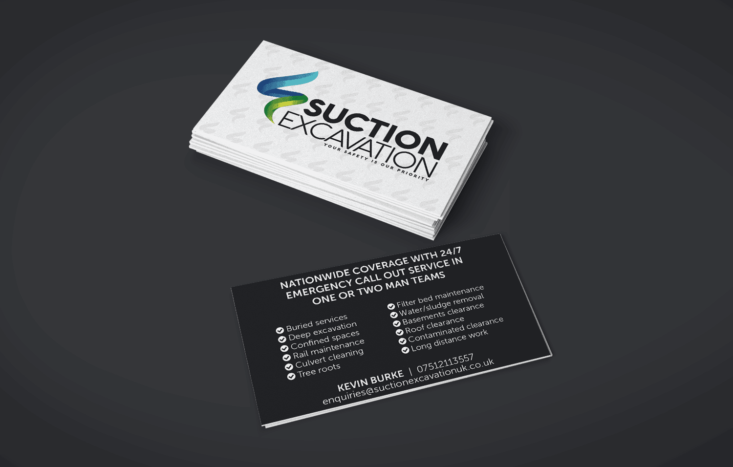 Suction Excavation business cards