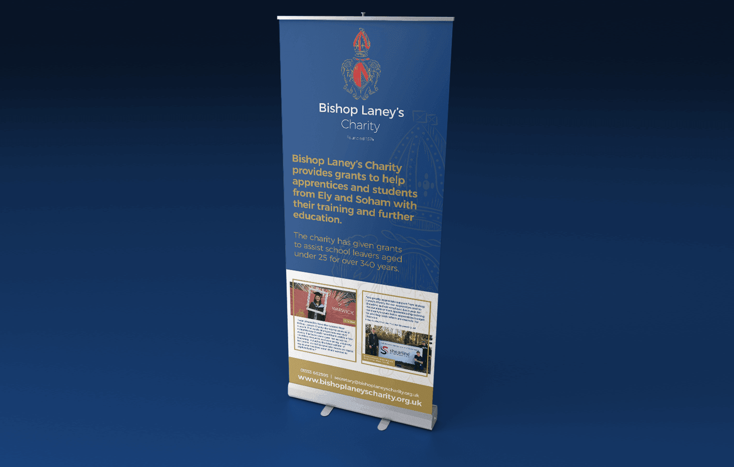 Bishop Laney's Charity Roller Banner - Infiniti Graphics