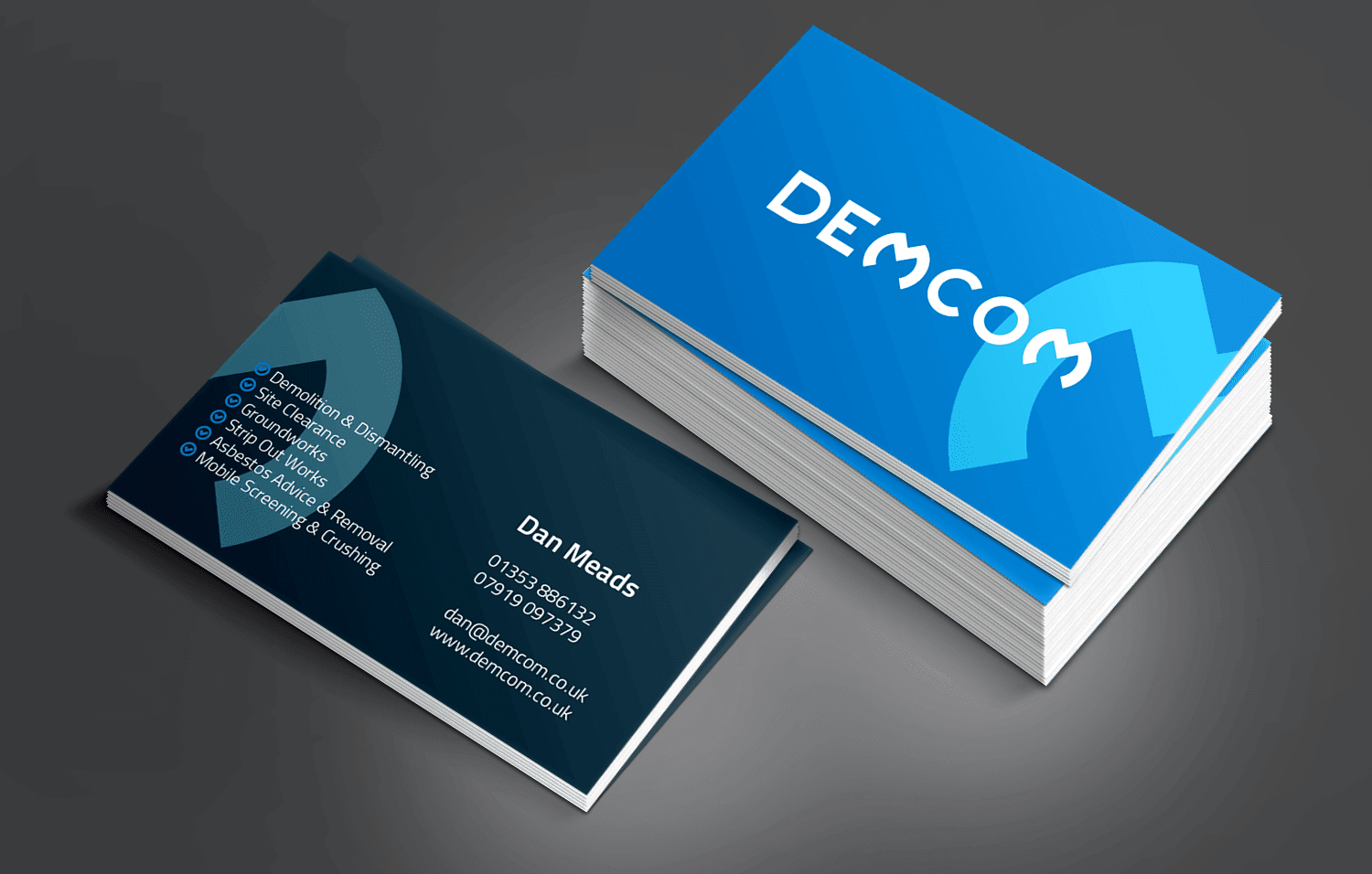 Demcom business card
