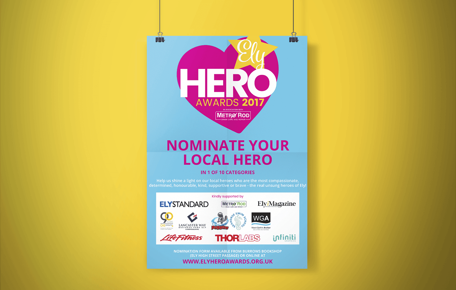Ely Hero Awards 2017 poster