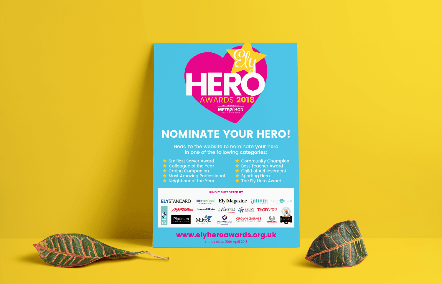 Ely Hero Awards poster