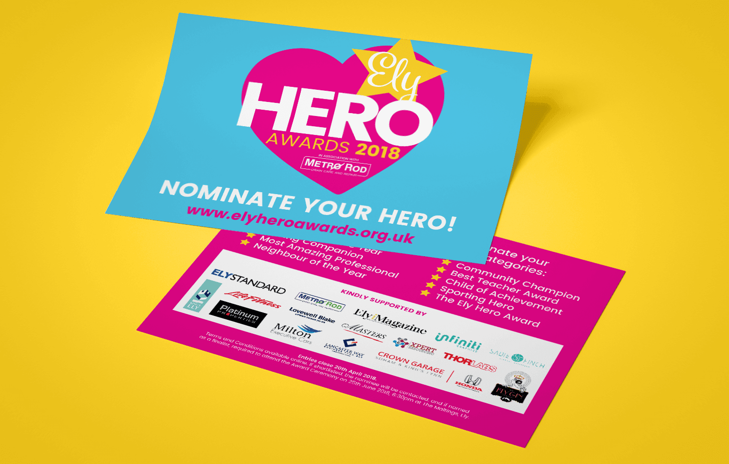 Ely Hero Awards leaflet
