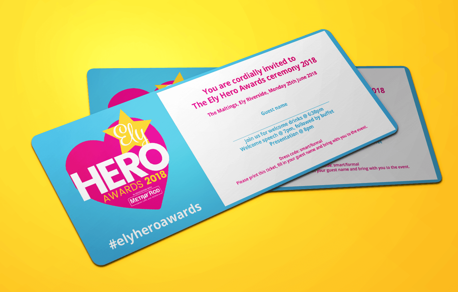 Ely Hero Awards ticket