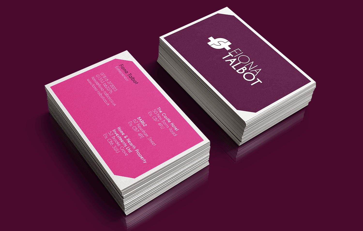 Fiona talbot business cards