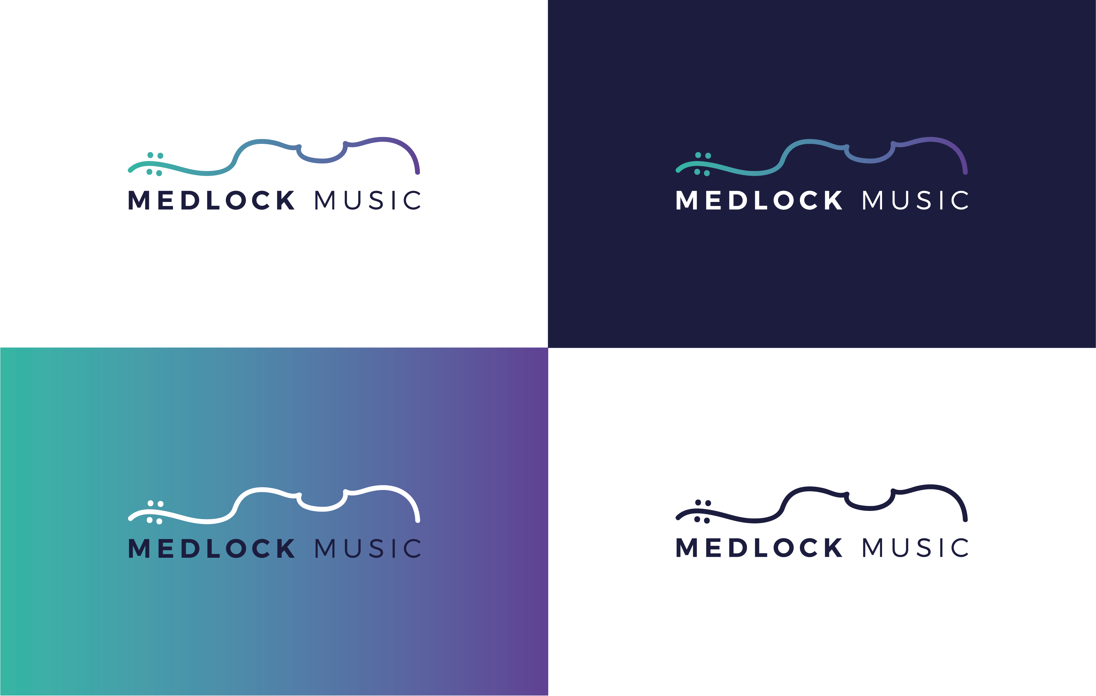 Medlock Music Logo 4 way