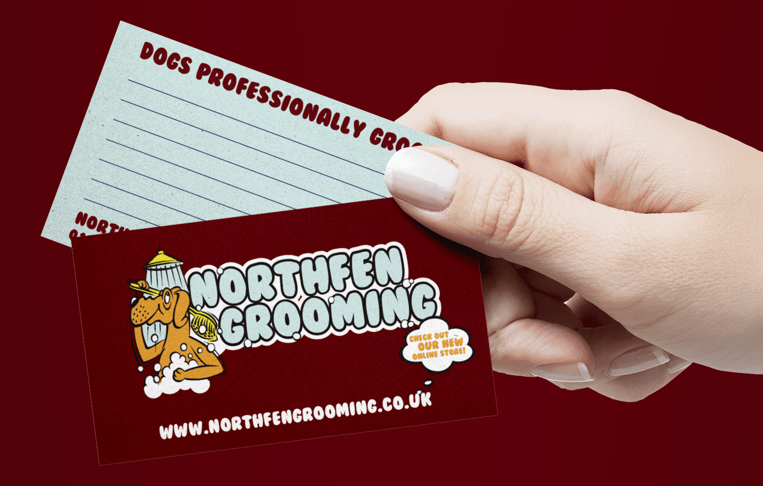 northfen Grooming Business Cards - Infiniti Graphics