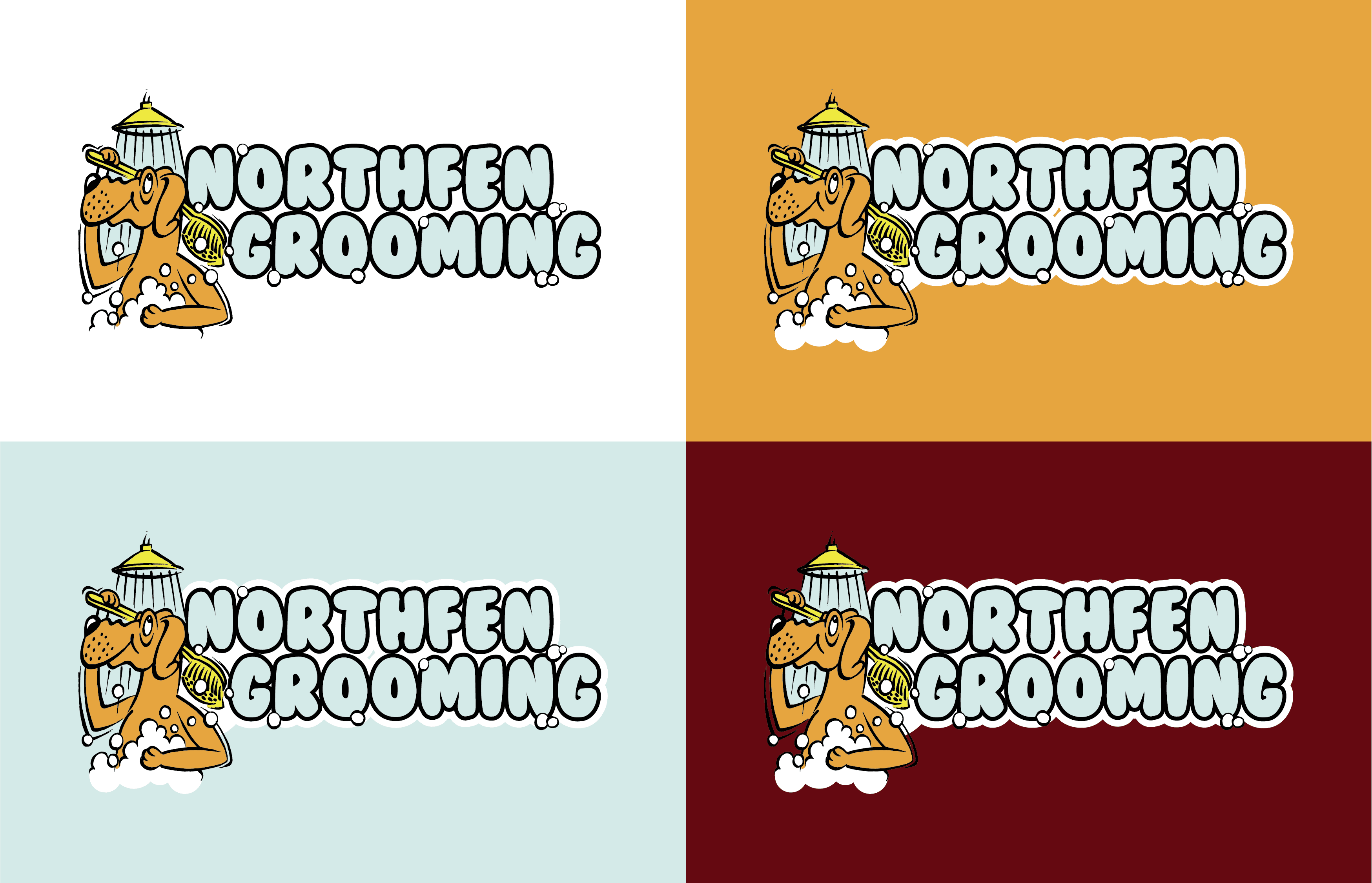 Northfen Grooming Logo Colourways - Infiniti Graphics