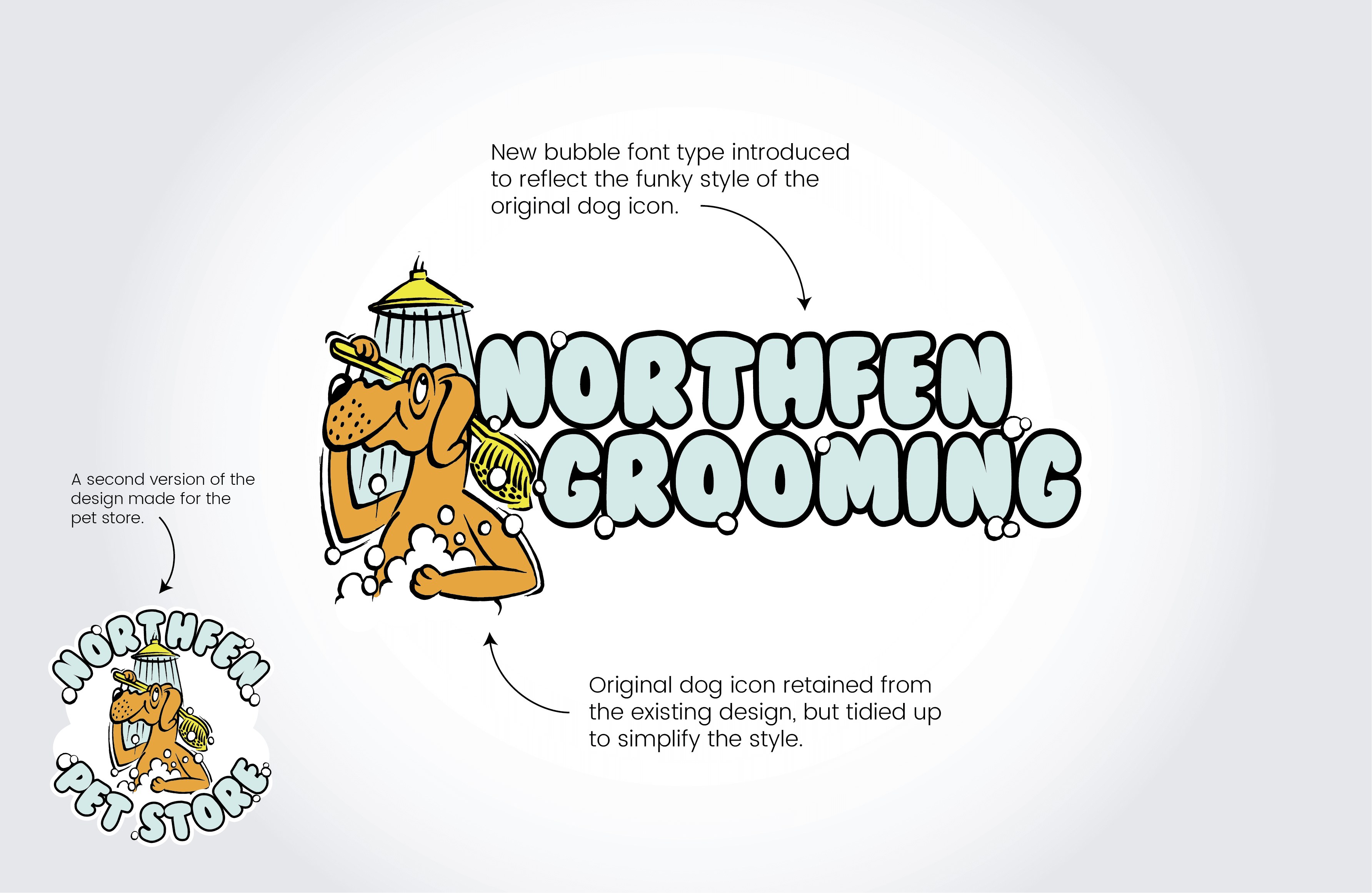 Northfen Grooming Logo Explanation - Infiniti Graphics