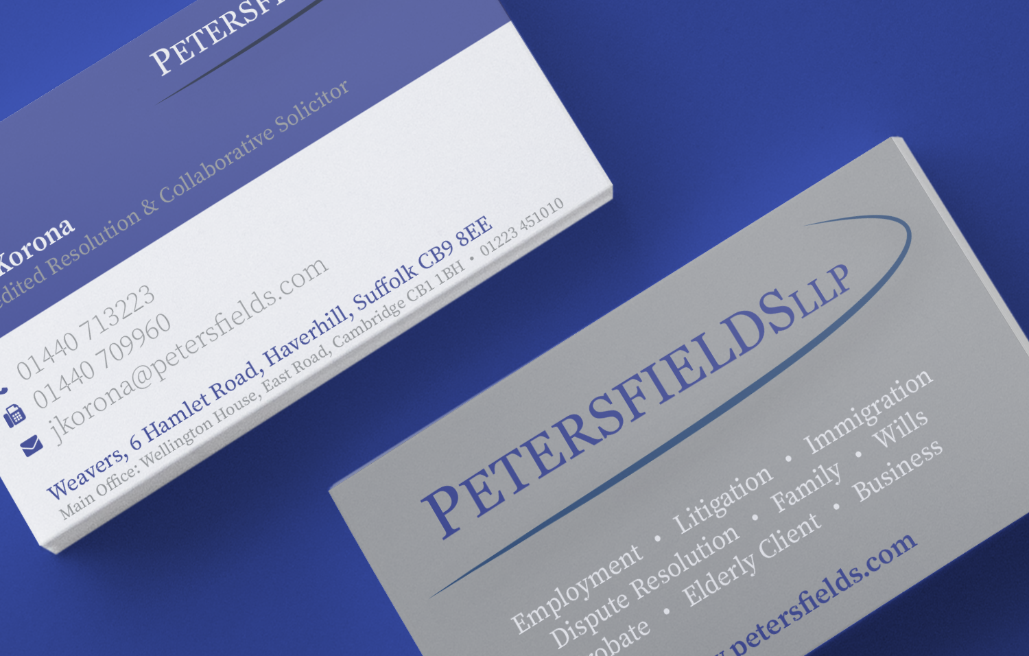 Petersfields business cards