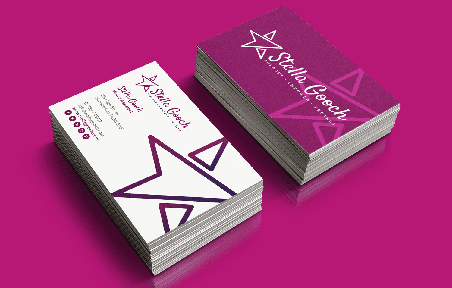 Stella Gooch VA business cards - Infiniti Graphics