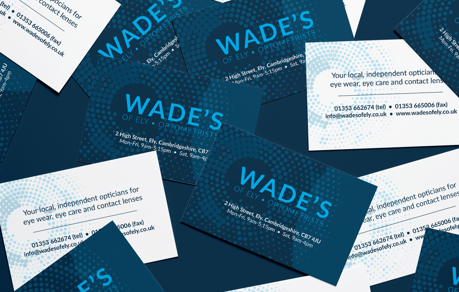 Wades of Ely business cards