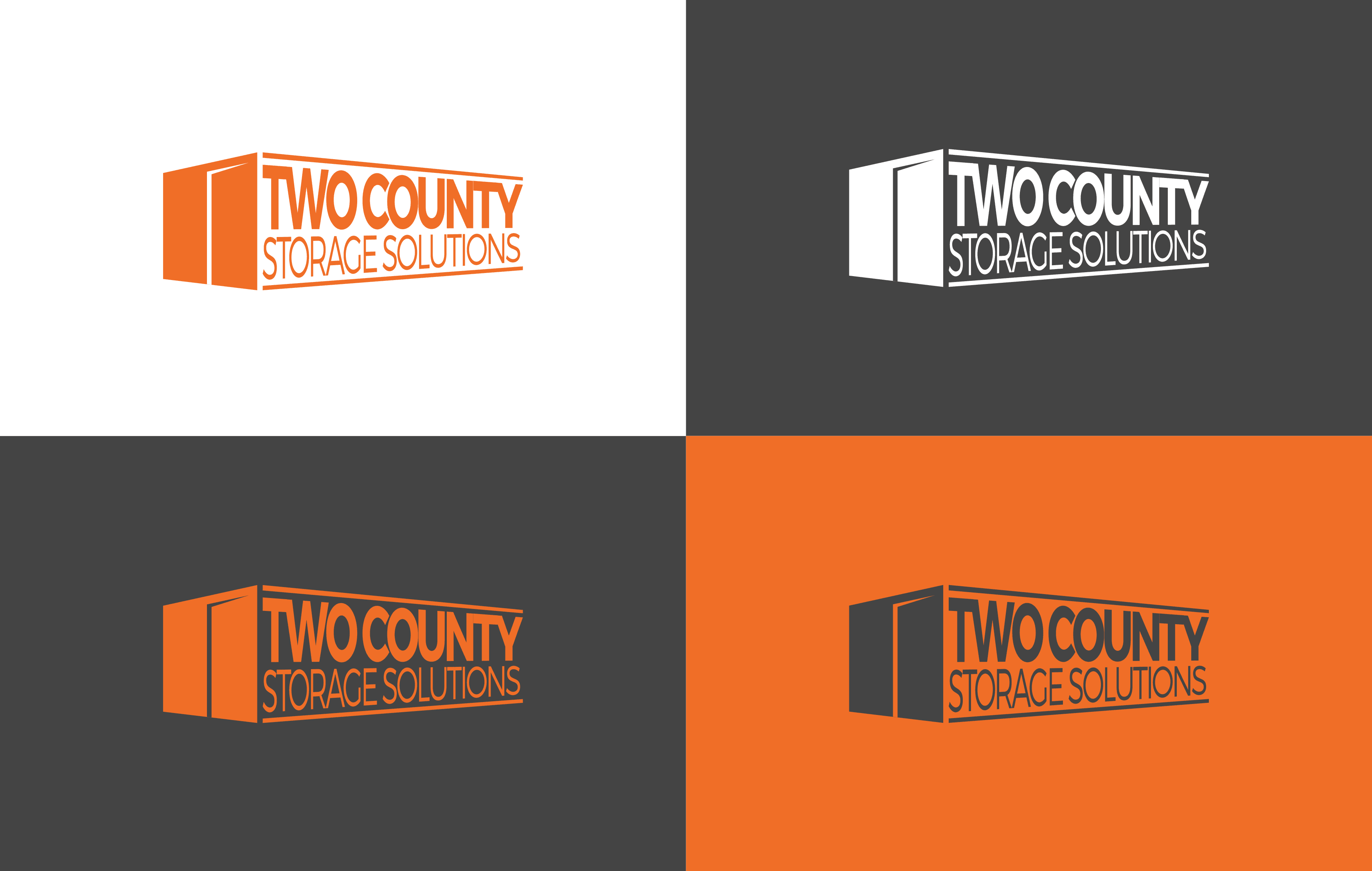 Two County Storage logo 4-way