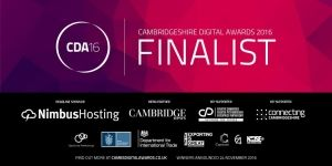 We've been selected as finalists in the Cambridgeshire Digital Awards!