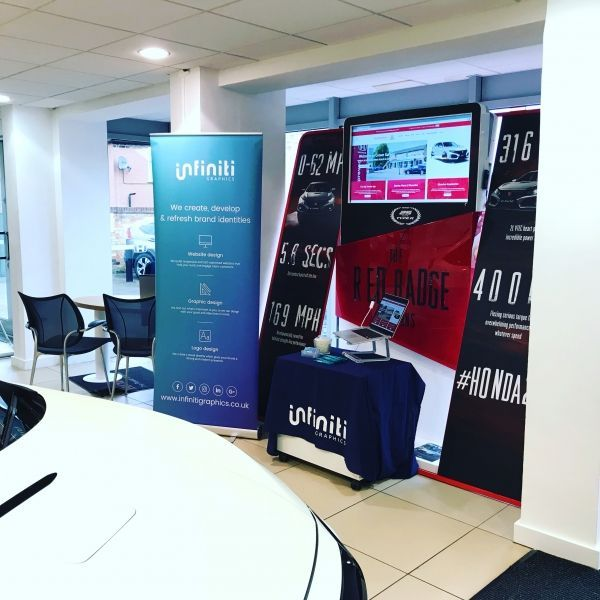 Showcasing Crown Garage's new website at their annual Open Day